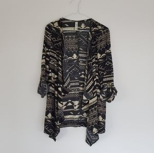 Lovely Day Black Aztec Blouse | Size: L